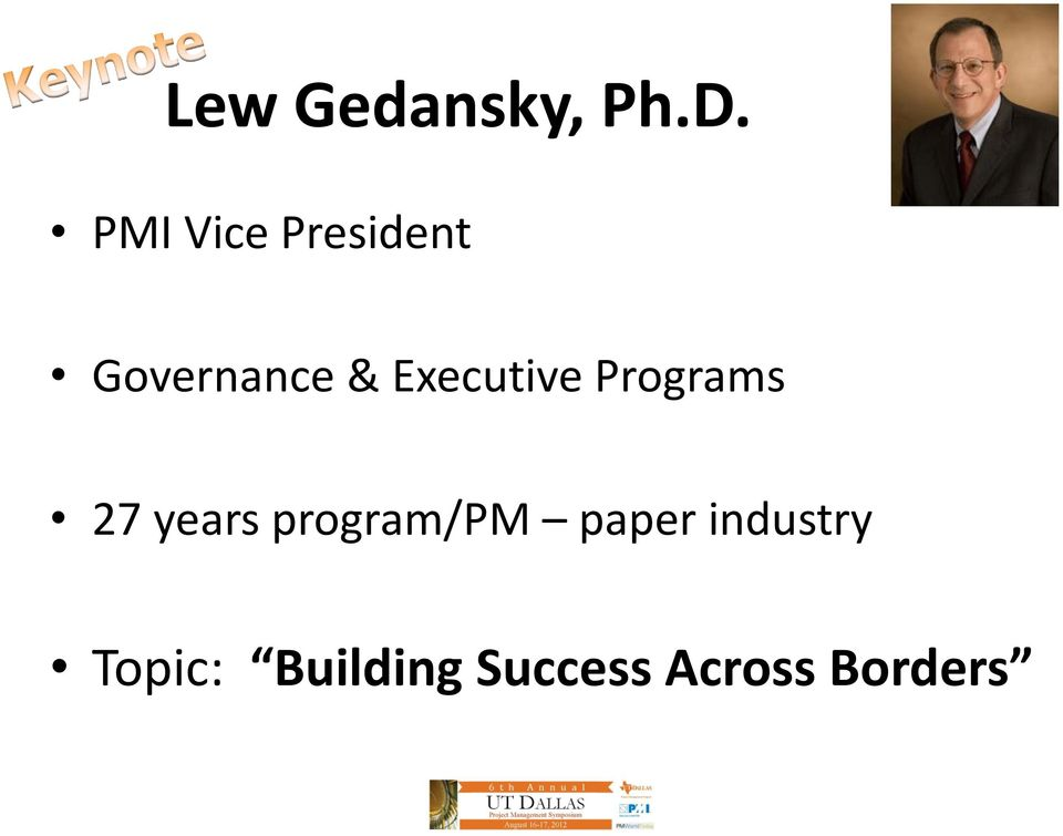 Executive Programs 27 years