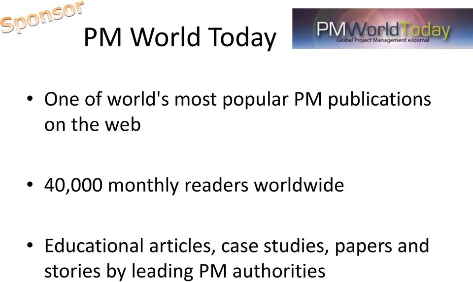 readers worldwide Educational articles, case