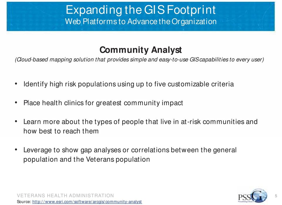 greatest community impact Learn more about the types of people that live in at-risk communities and how best to reach them Leverage to show gap