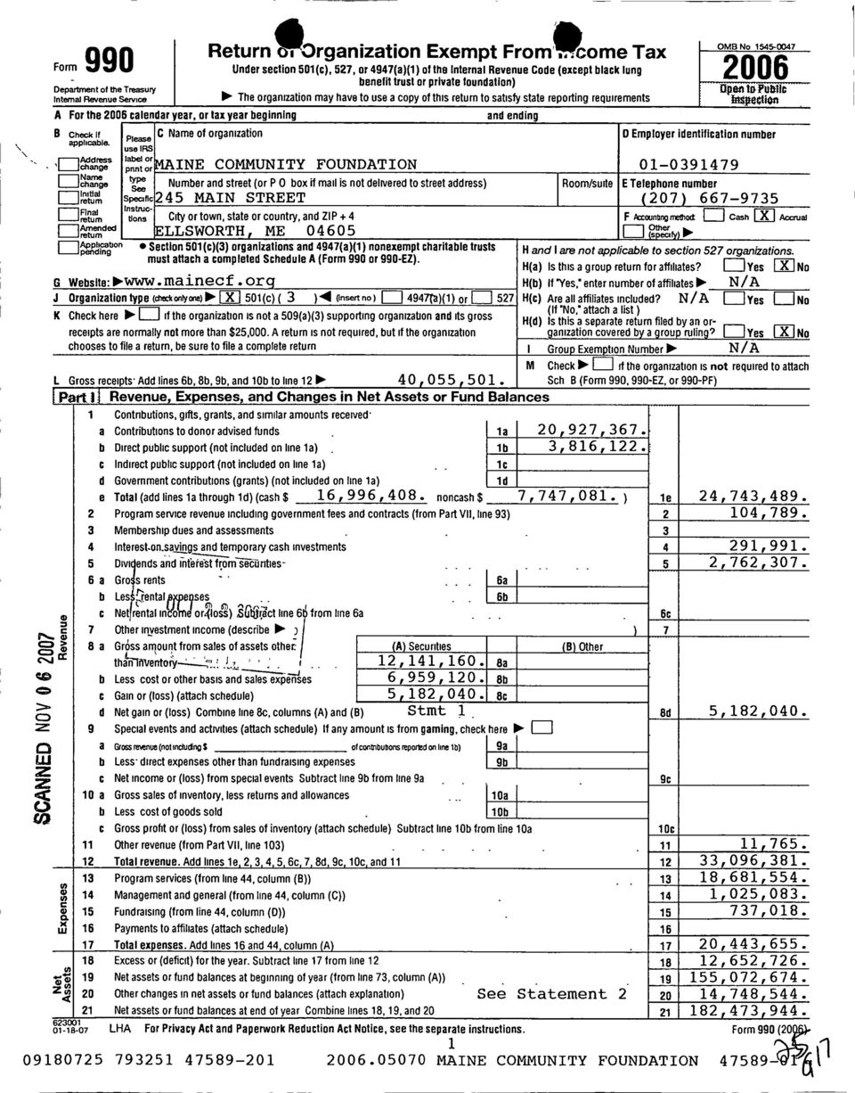 ttipublic Internal Revenue service The organization may have to use a copy of this return to satisfy state reporting requirements lipn A For the 2006 calendar year, or tax year beginning and ending B