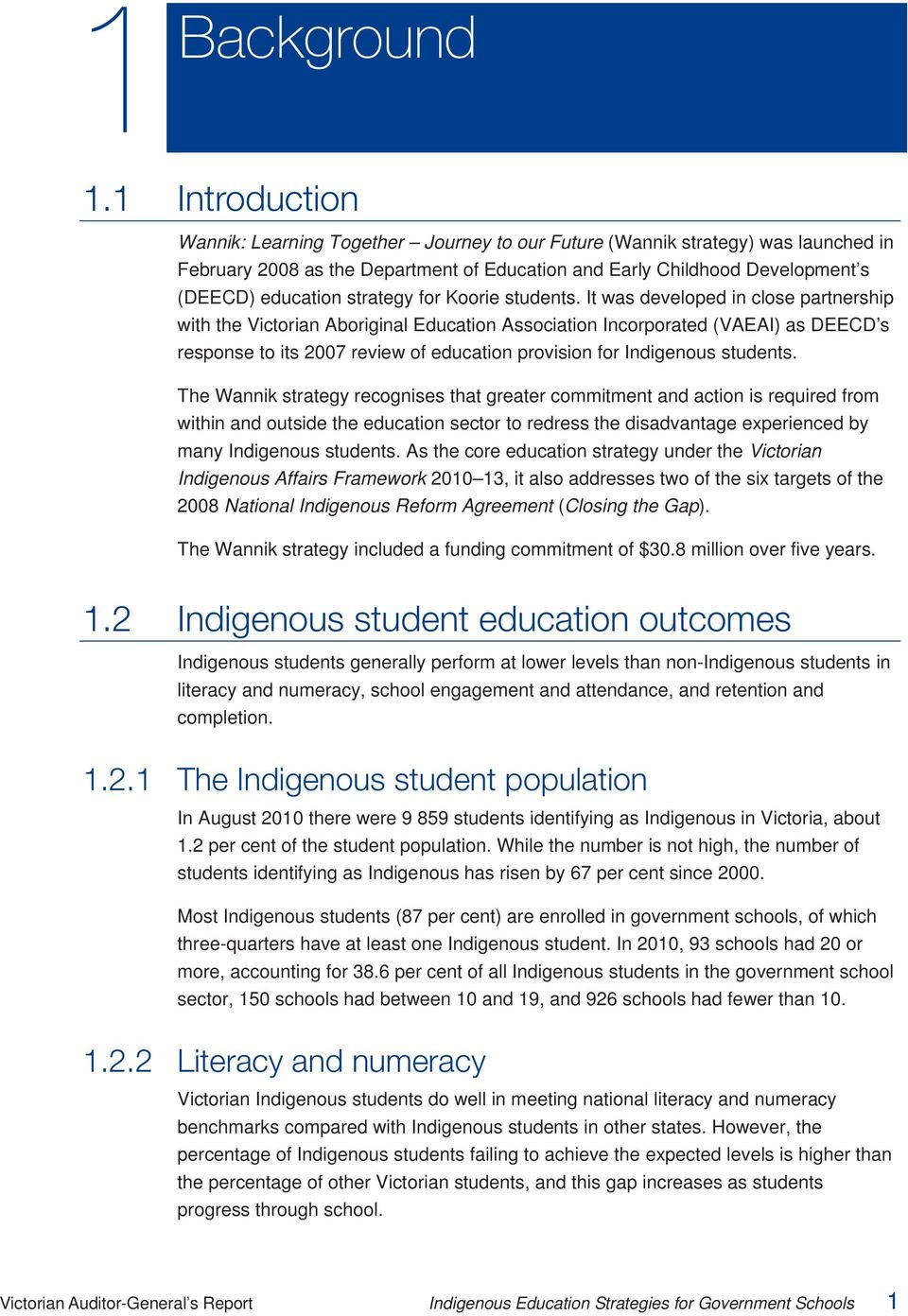 strategy for Koorie students.