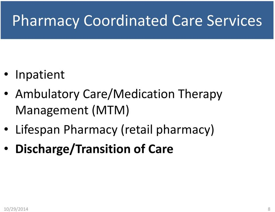 Therapy Management (MTM) Lifespan