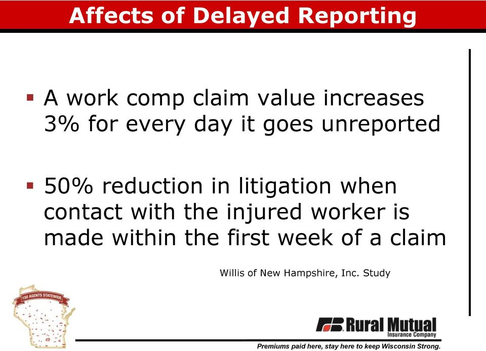 in litigation when contact with the injured worker is made