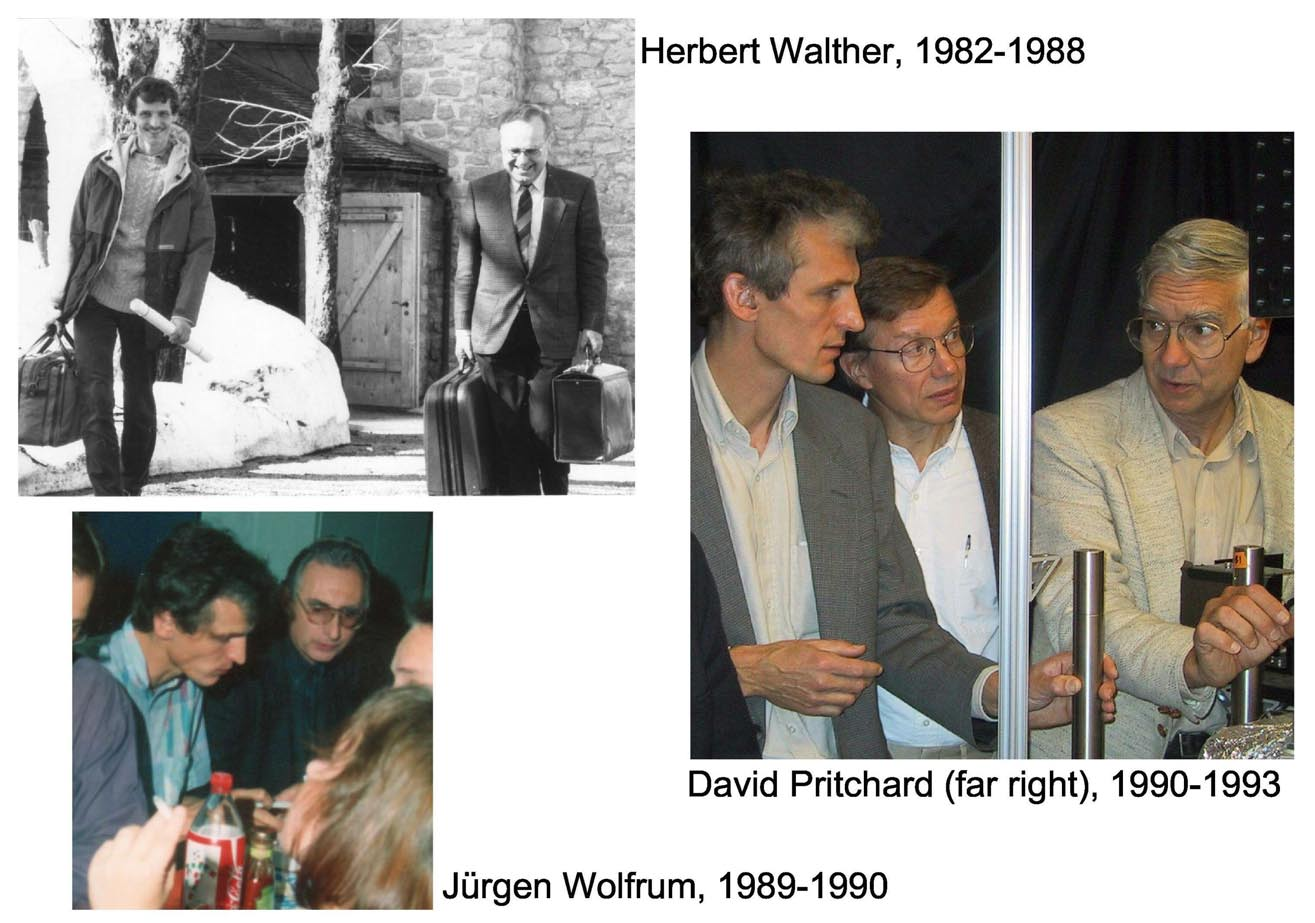 W.K. with his Ph.D. and postdoctoral advisors. When your work is directly related to cleaner and more efficient combustion, you can easily convince non-scientists of the relevance of your research.