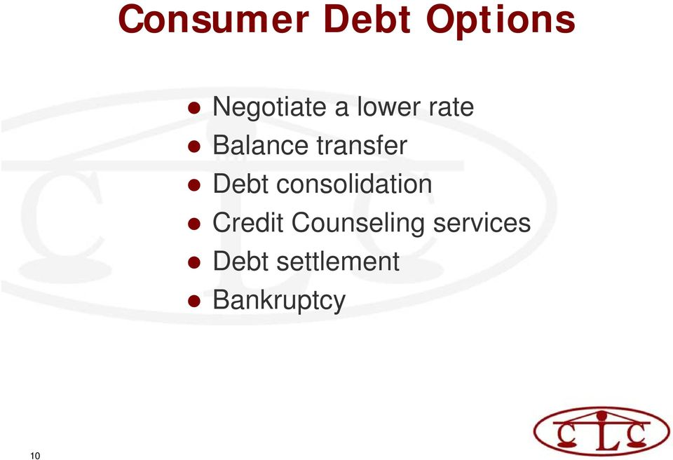 consolidation Credit Counseling
