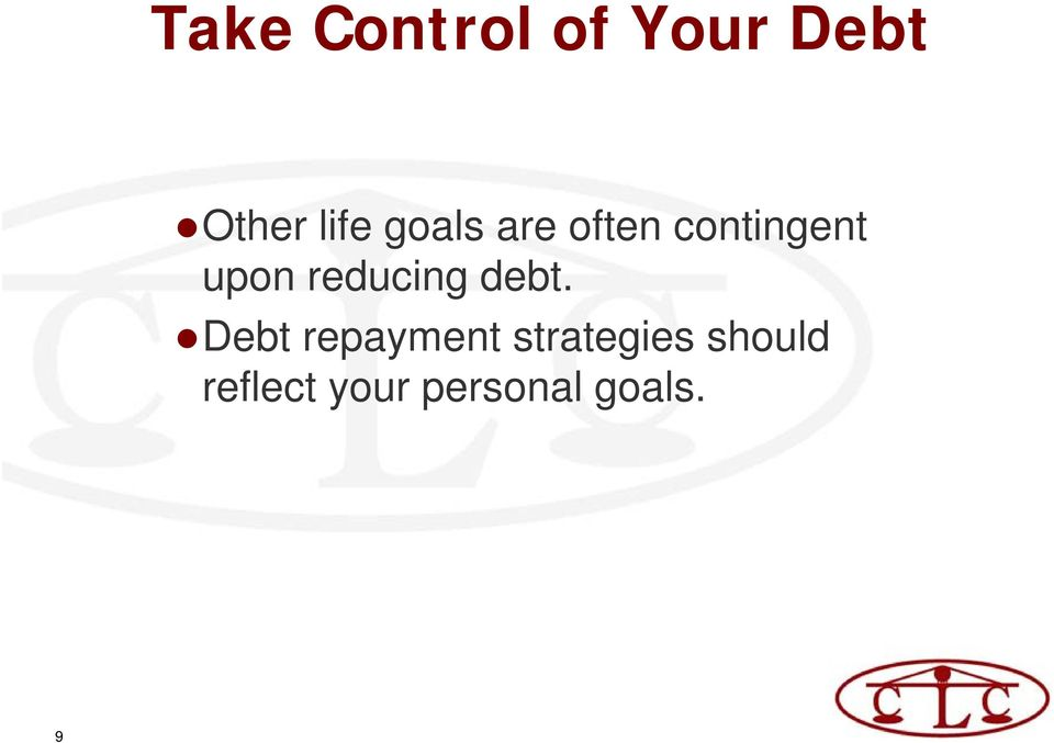 reducing debt.