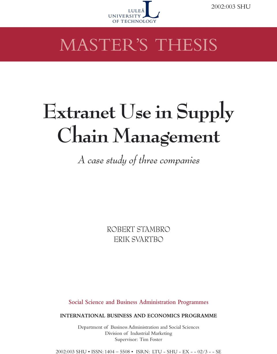 role of logistics in supply chain management information technology essay Latest resource the evolving role of 3pls in supply chain management  supply chain management supply chain technology  editors of logistics management.