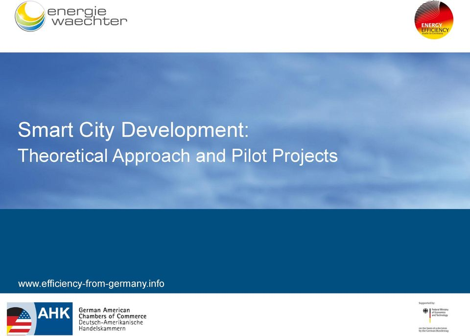and Pilot Projects www.
