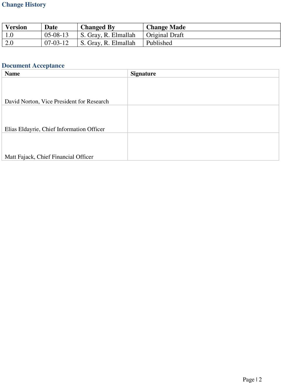 Elmallah Published Document Acceptance Signature David Norton, Vice