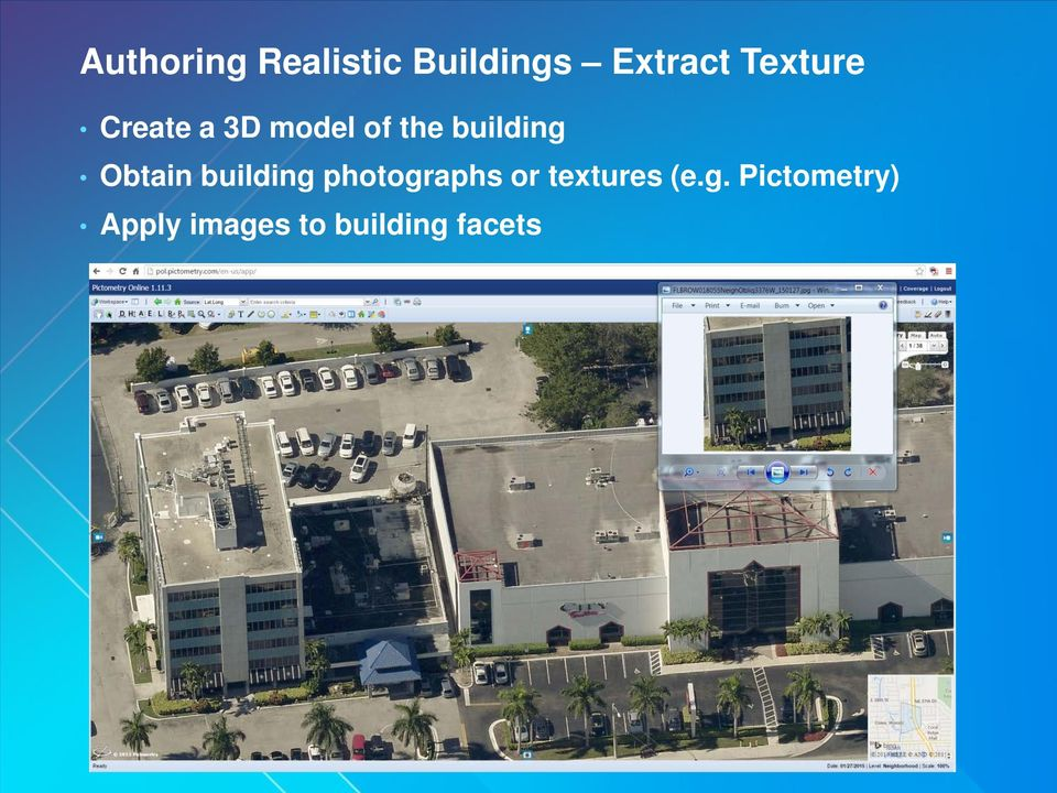 Obtain building photographs or textures (e.