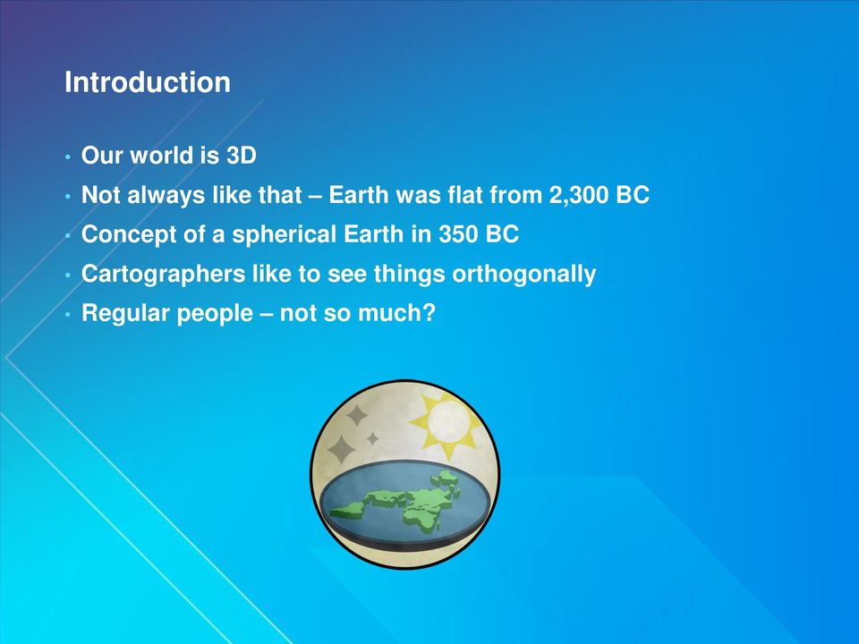 spherical Earth in 350 BC Cartographers like to