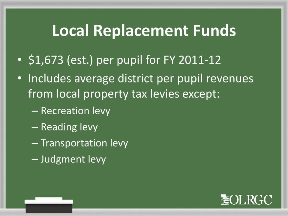 per pupil revenues from local property tax levies