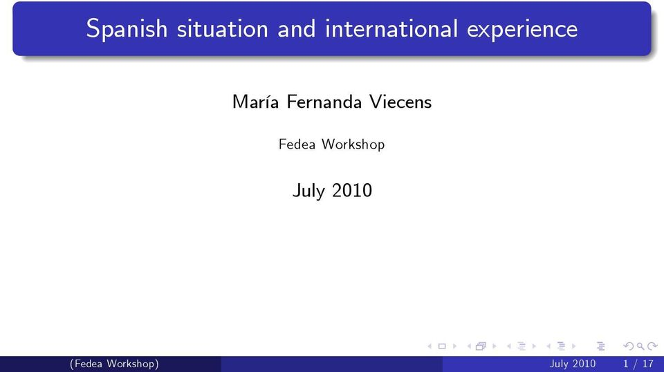 Fernanda Viecens Fedea Workshop