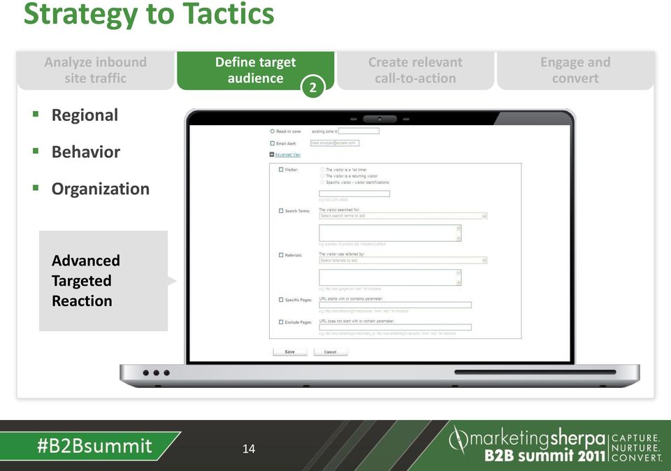 call-to-action Engage and convert Regional