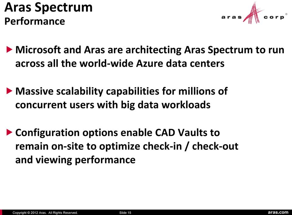 Azure data centers Massive scalability capabilities for millions of concurrent users with big