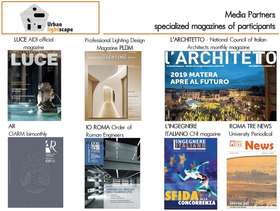 Italian Architects monthly magazine AR OARM bimonthly IO ROMA Order of Roman