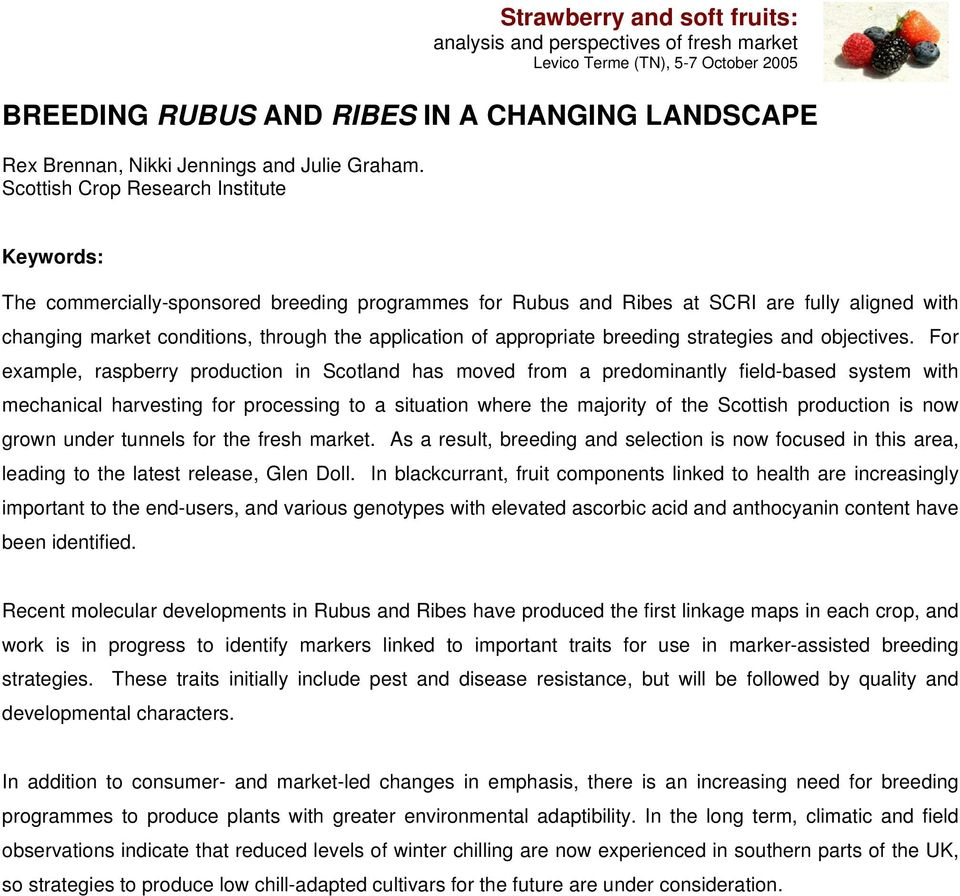 appropriate breeding strategies and objectives.