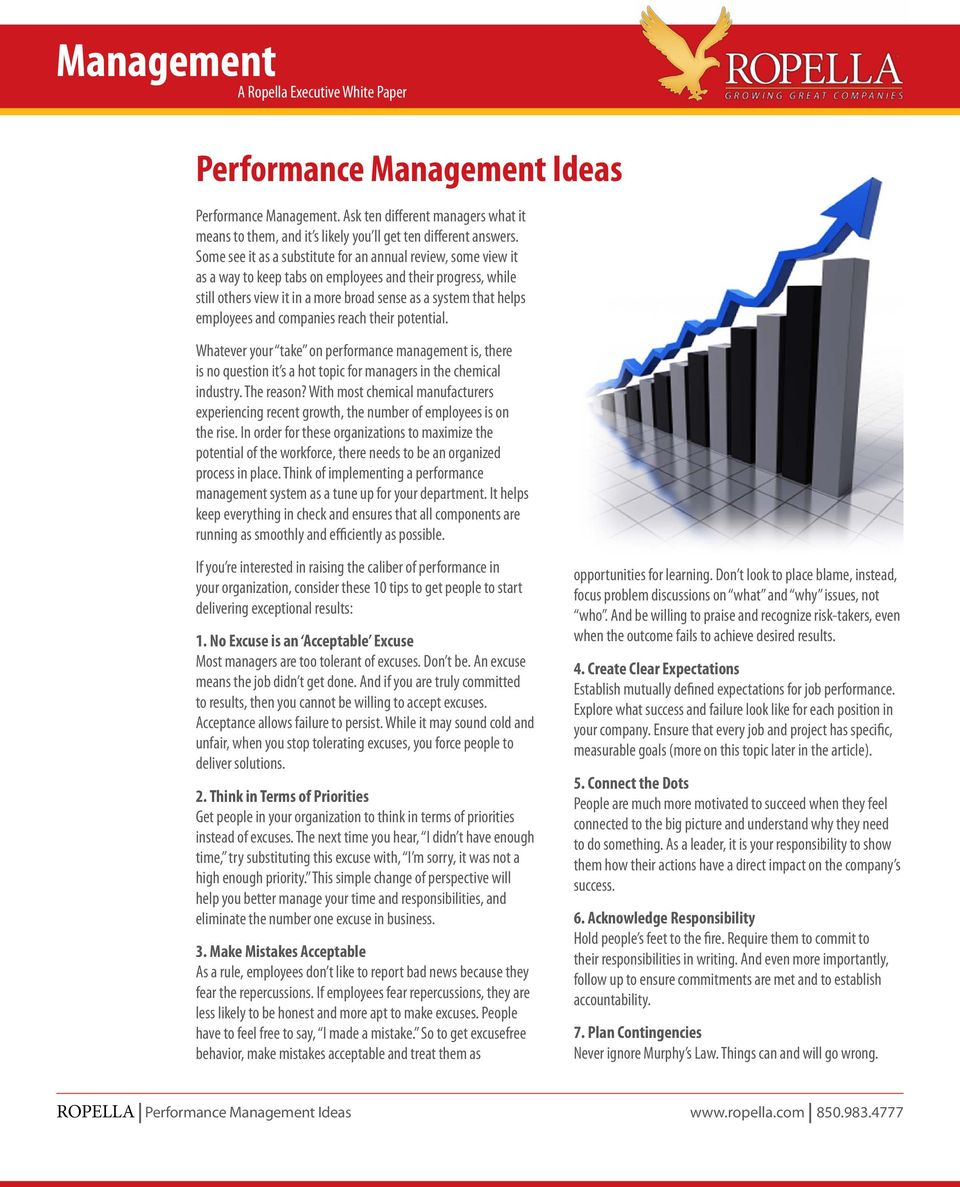 and companies reach their potential. Whatever your take on performance management is, there is no question it s a hot topic for managers in the chemical industry. The reason?