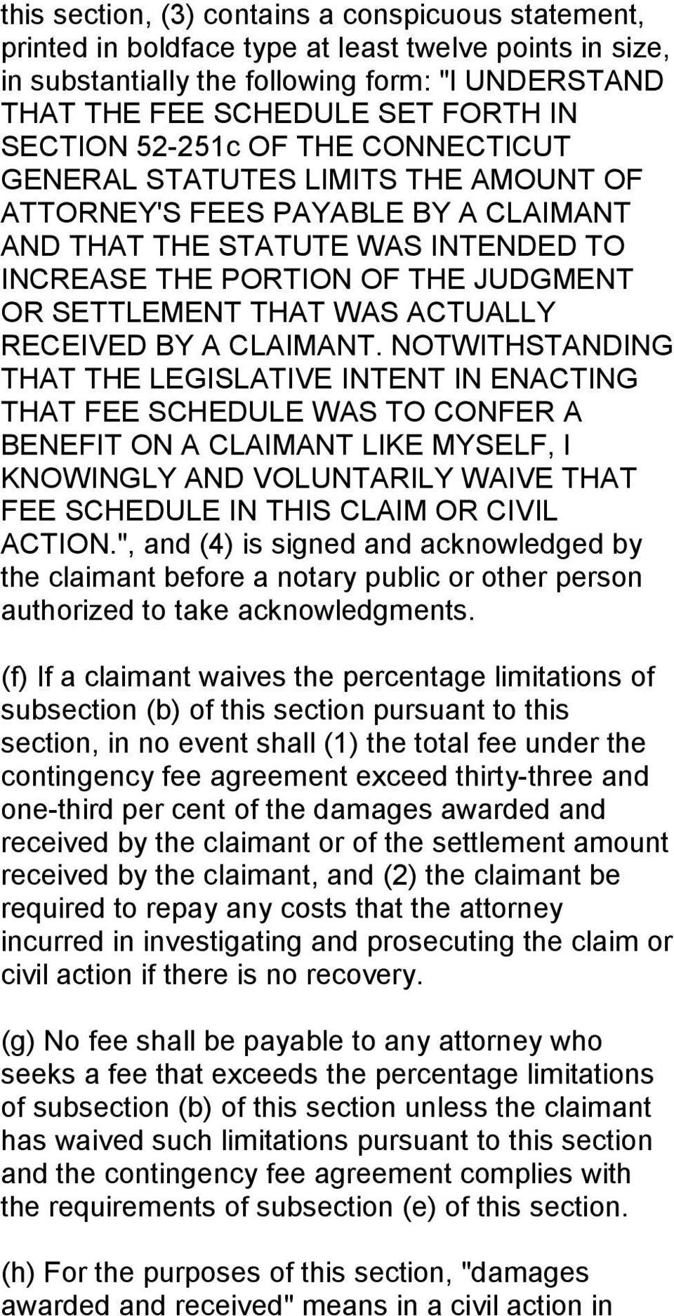 THAT WAS ACTUALLY RECEIVED BY A CLAIMANT.