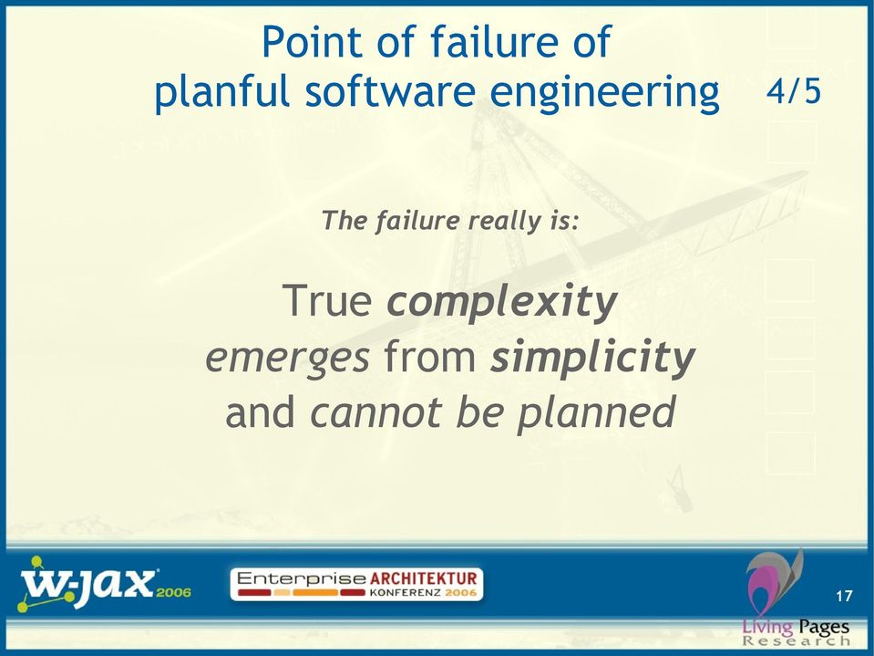 failure really is: True complexity