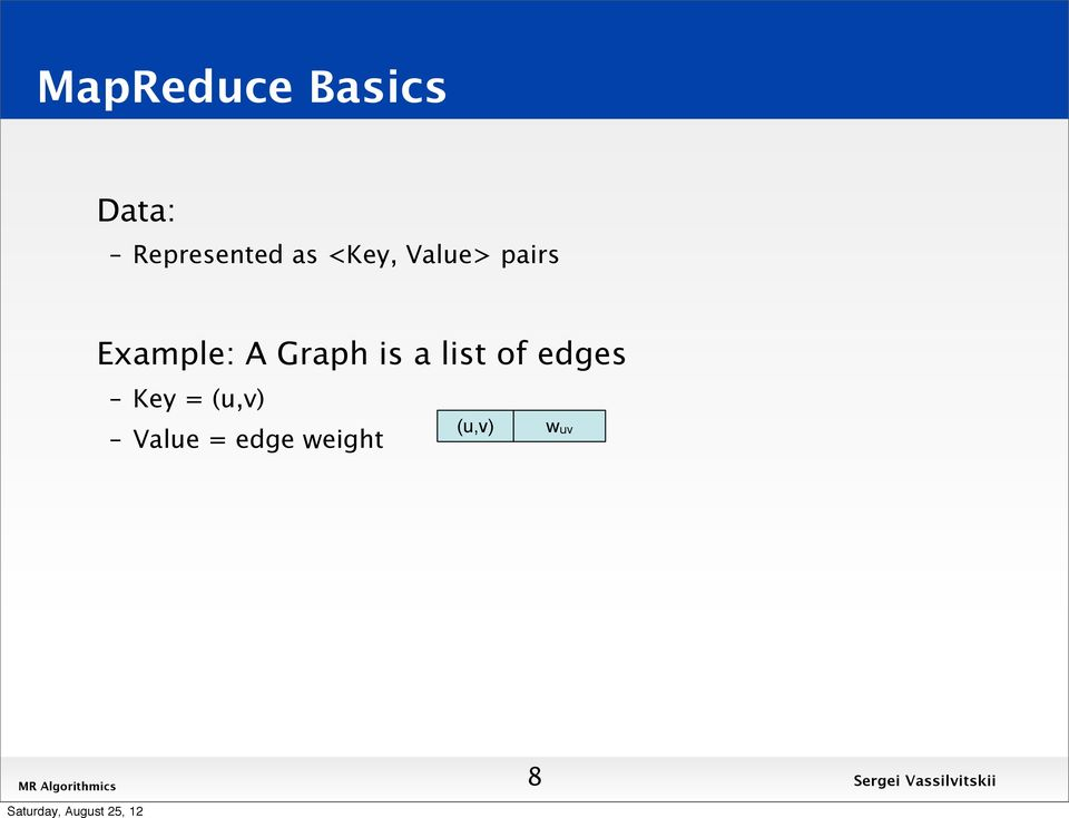 Example: A Graph is a list of