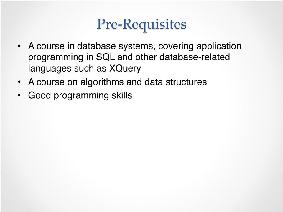 database-related languages such as XQuery!