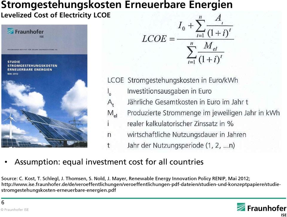 Mayer, Renewable Energy Innovation Policy RENIP, Mai 2012; http://www.ise.fraunhofer.