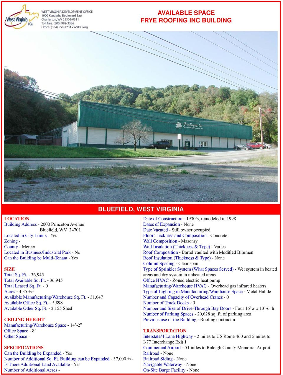 Ft. - 5,898 Available Other Sq. Ft.