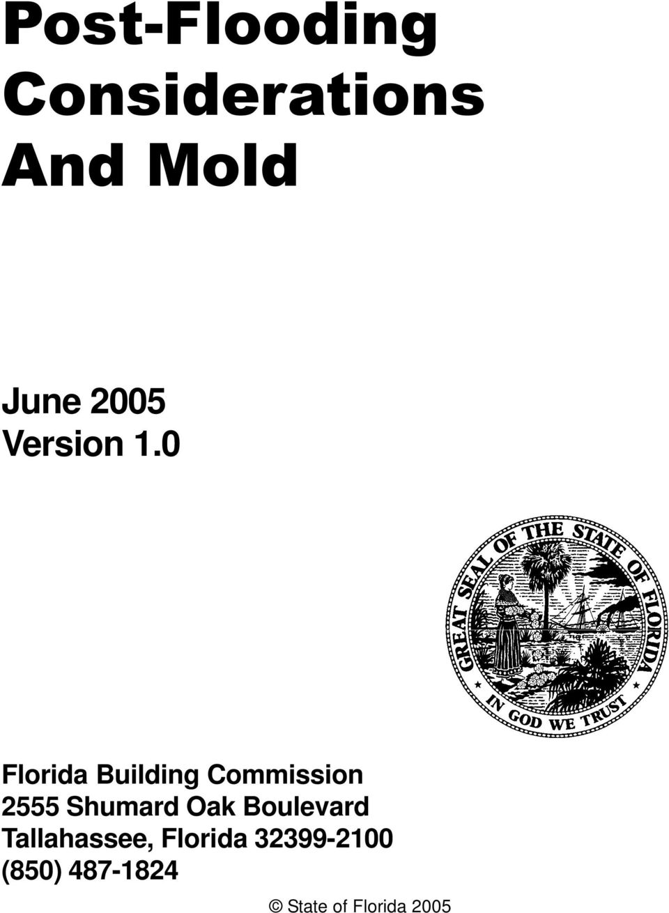 0 Florida Building Commission 2555 Shumard