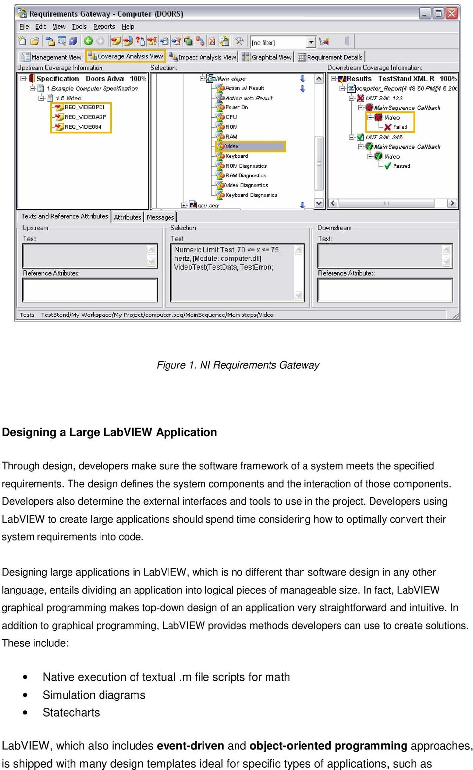Developers using LabVIEW to create large applications should spend time considering how to optimally convert their system requirements into code.