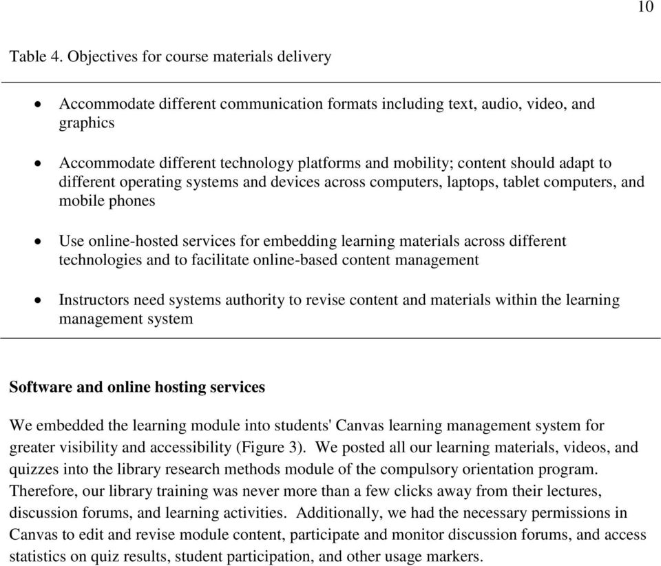 adapt to different operating systems and devices across computers, laptops, tablet computers, and mobile phones Use online-hosted services for embedding learning materials across different