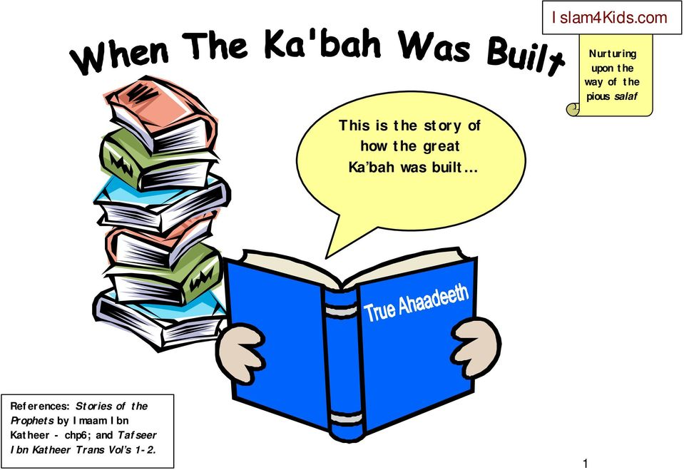 the Prophets by Imaam Ibn Katheer -