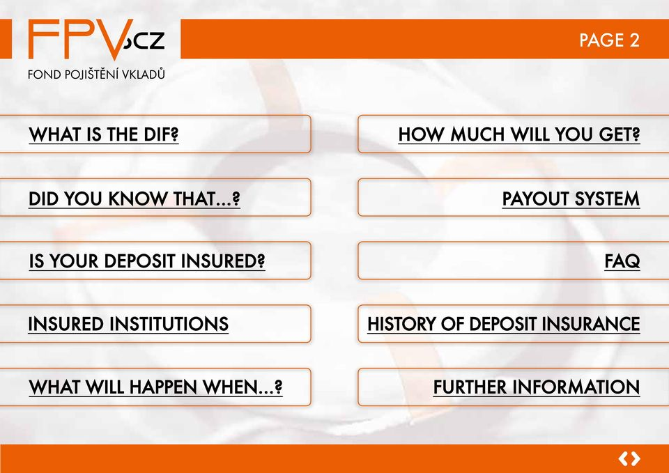 Payout system Is your deposit insured?