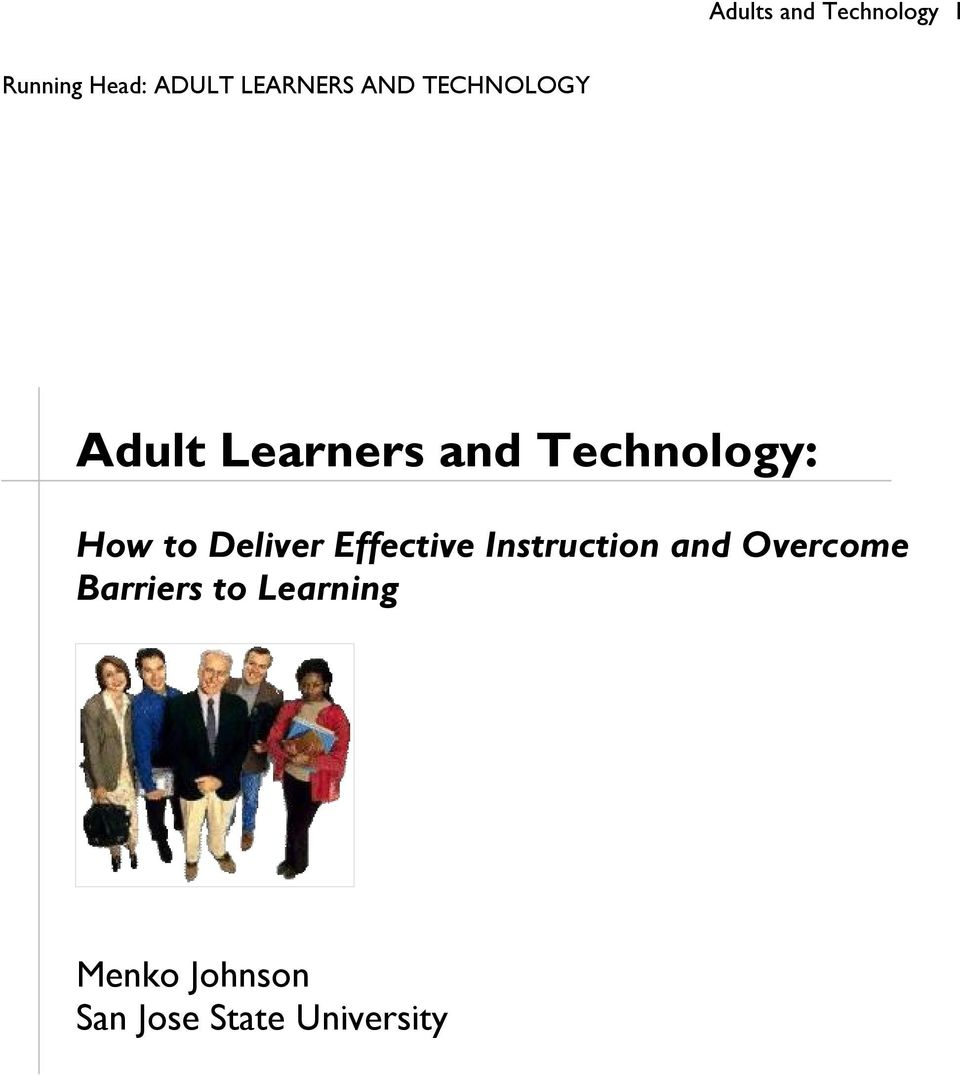 Deliver Effective Instruction and Overcome Barriers