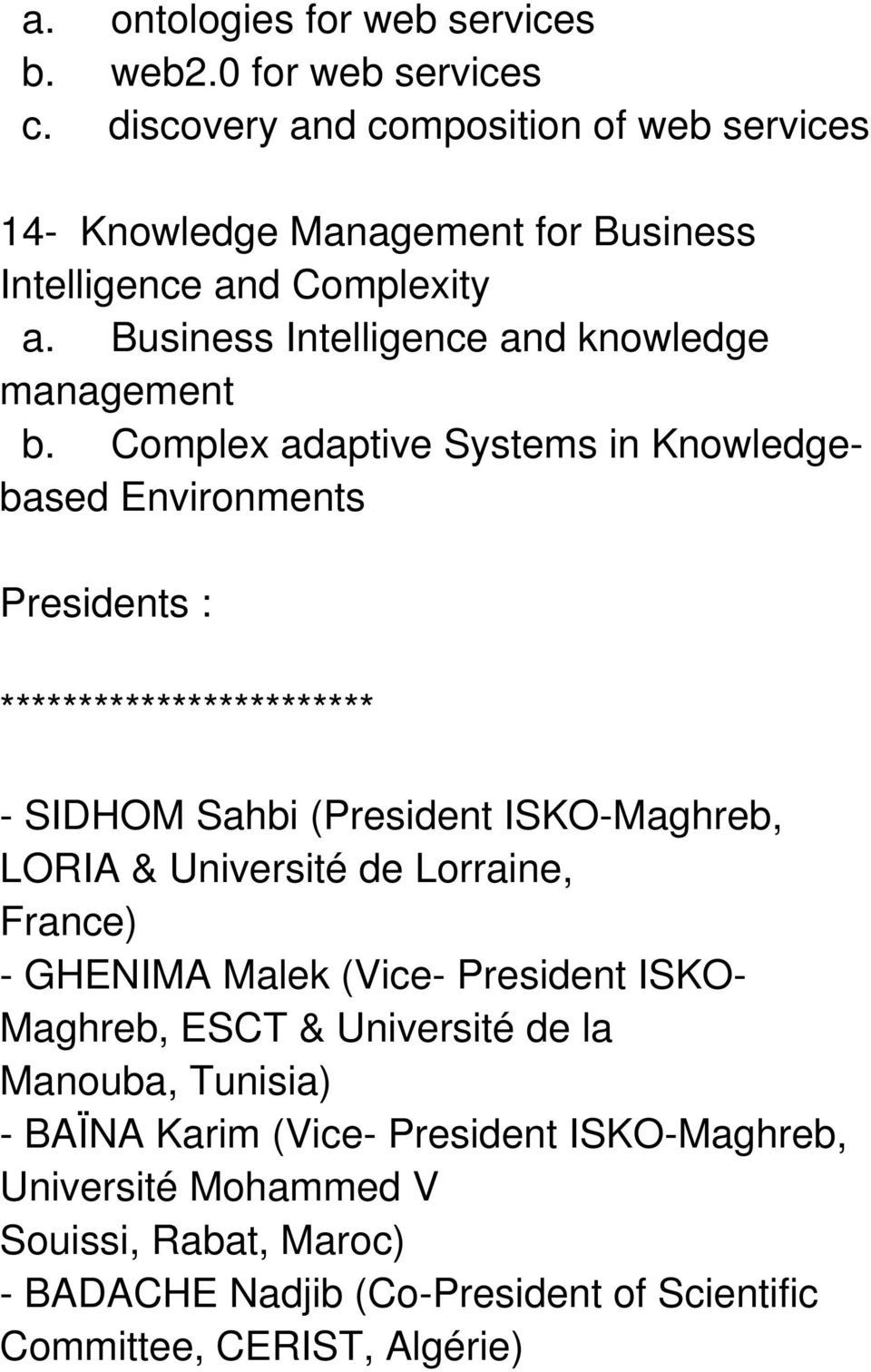 Business Intelligence and knowledge management b.