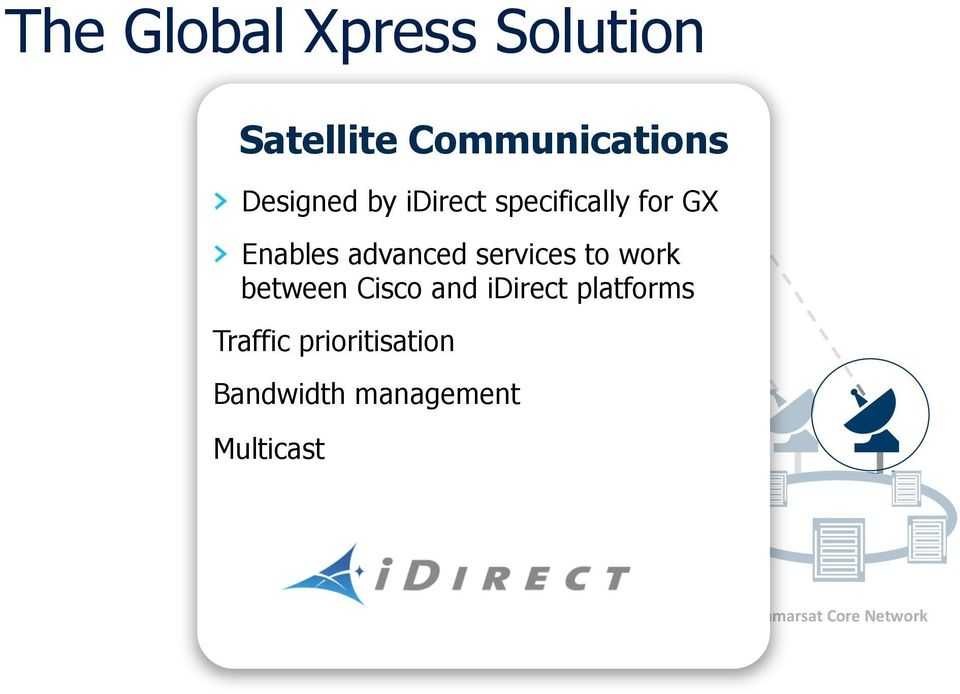 between Cisco and idirect platforms Traffic prioritisation
