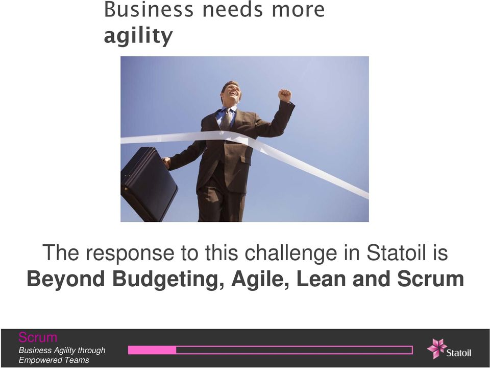this challenge in Statoil