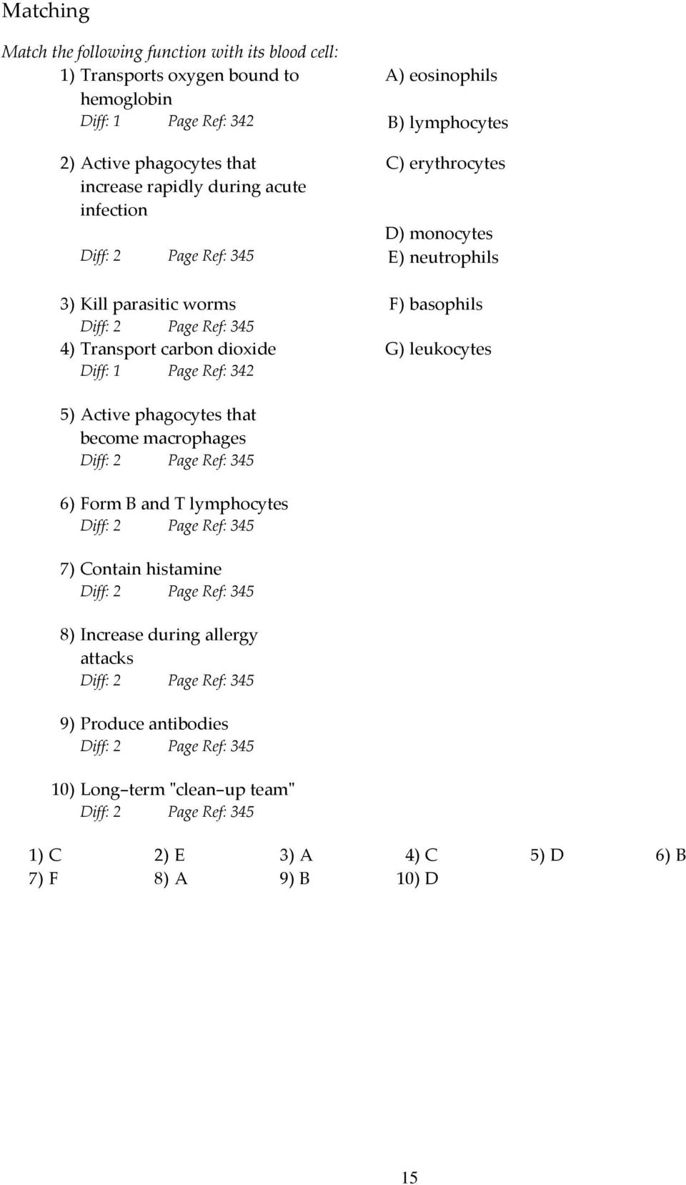 Excepcional Anatomy And Physiology Chapter 10 Blood Worksheet ...