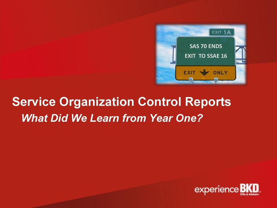 Control Reports What Did