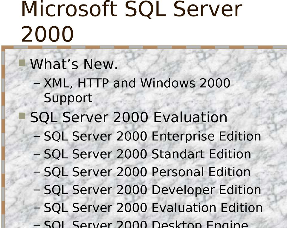 sql server 2000 developer edition