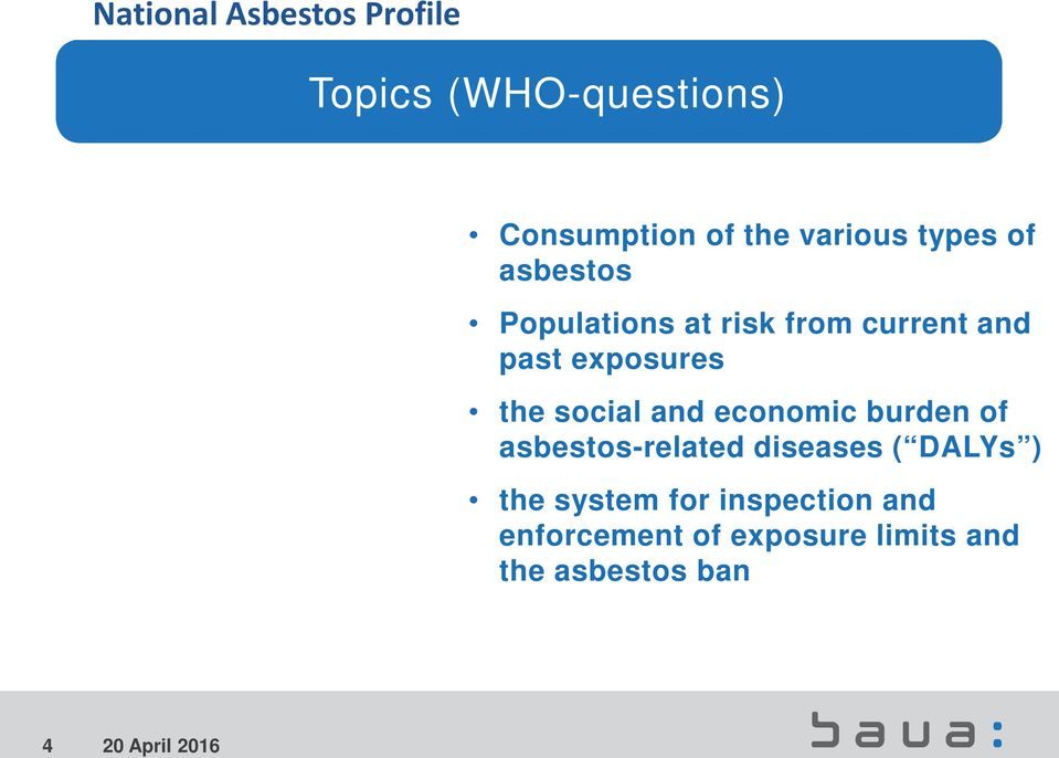 economic burden of asbestos-related diseases ( DALYs ) the system for