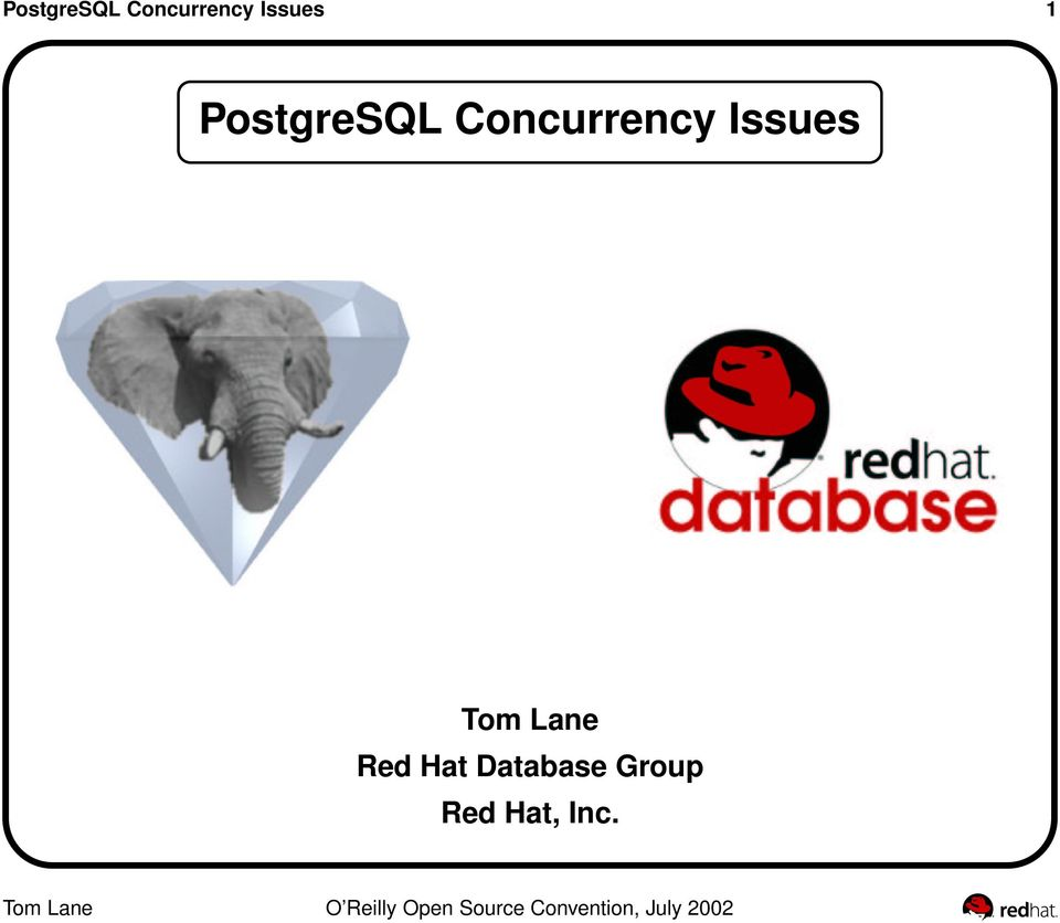 Red Hat Database Group Red