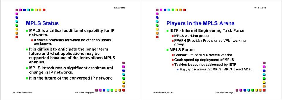 MPLS introduces a significant architectural change in IP networks.