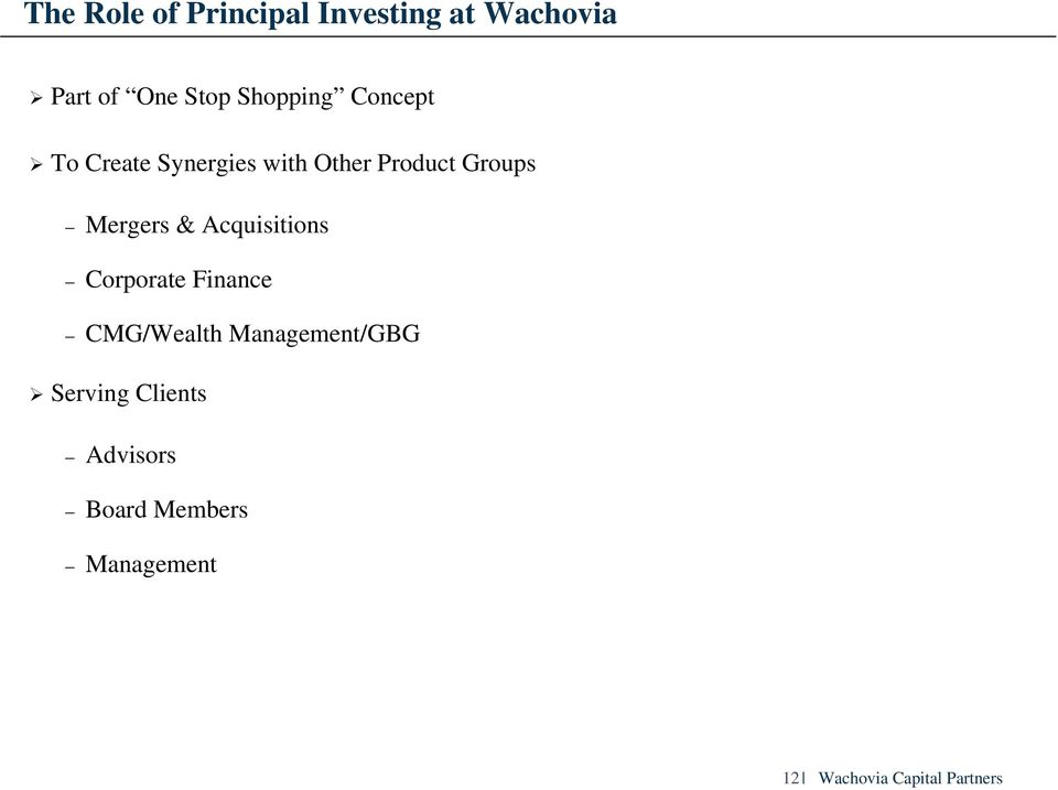Other Product Groups Mergers & Acquisitions Corporate Finance
