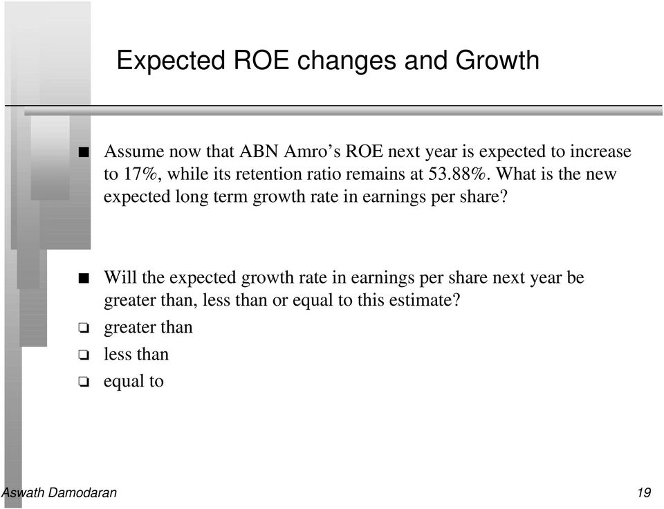 What is the new expected long term growth rate in earnings per share?