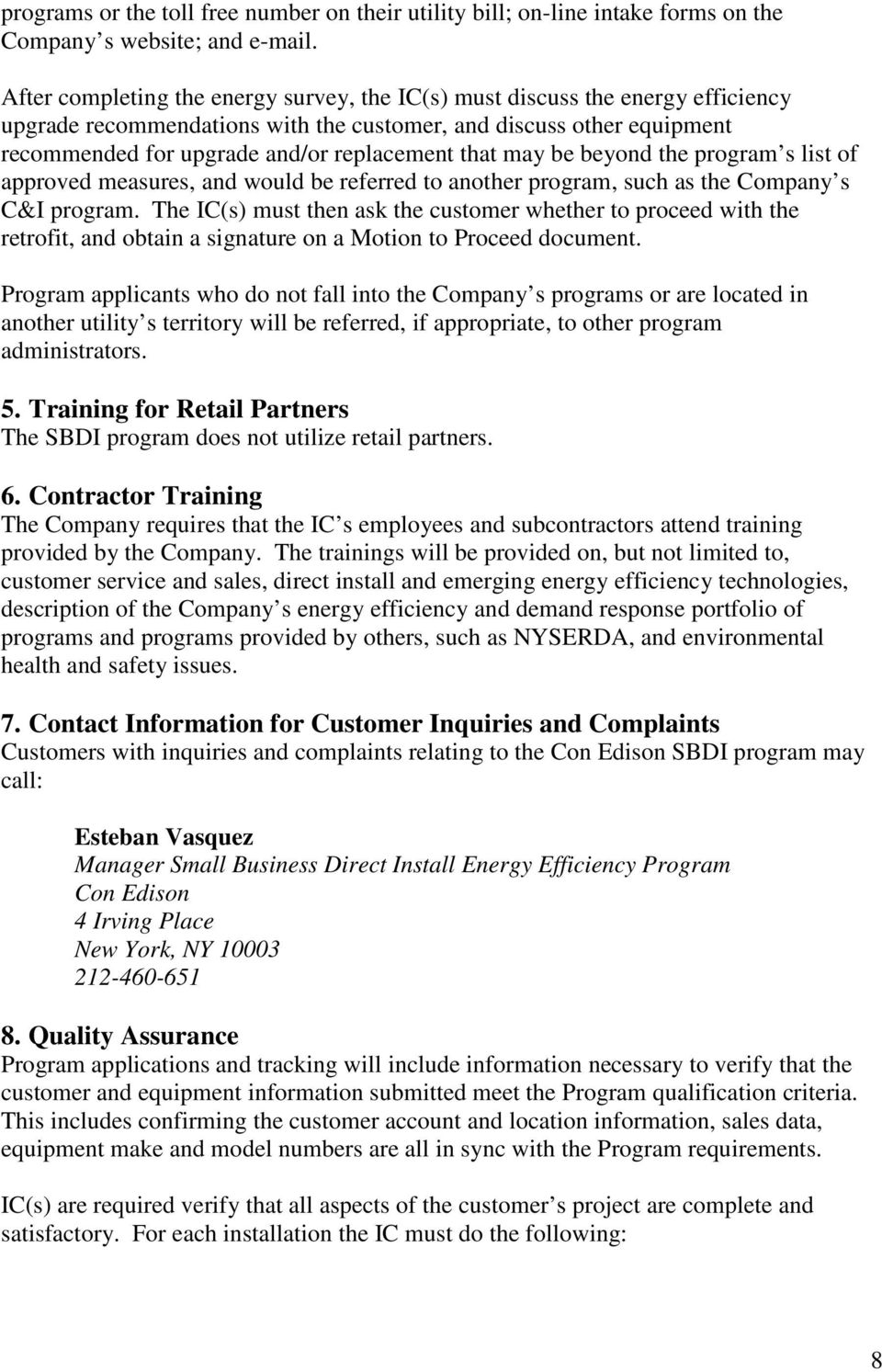 Small Business Direct Install Program Implementation Plan - PDF