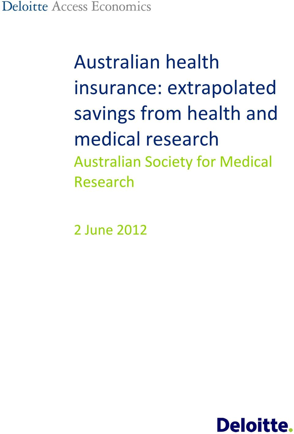 and medical research Australian