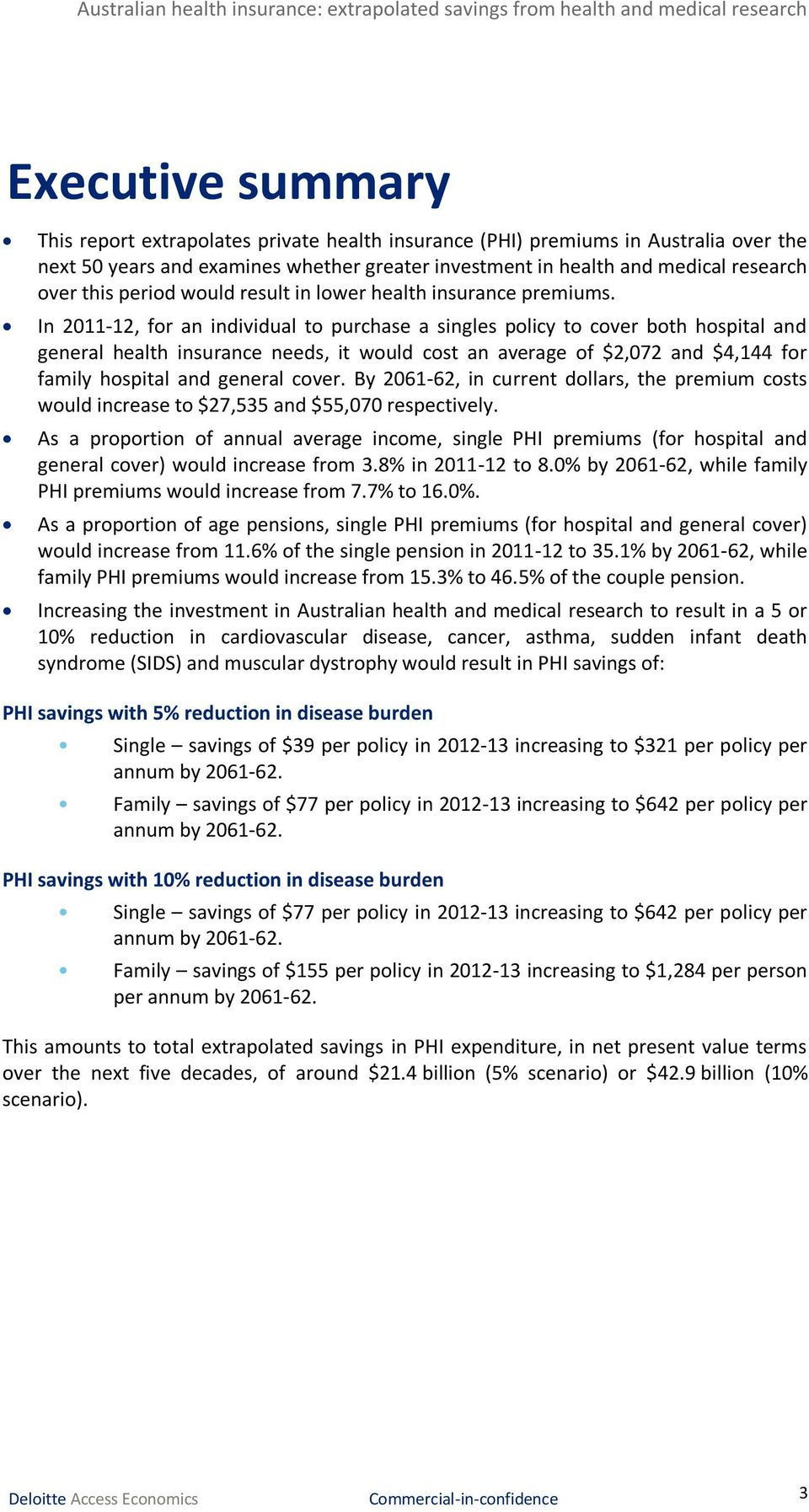 In 2011-12, for an individual to purchase a singles policy to cover both hospital and general health insurance needs, it would cost an average of $2,072 and $4,144 for family hospital and general