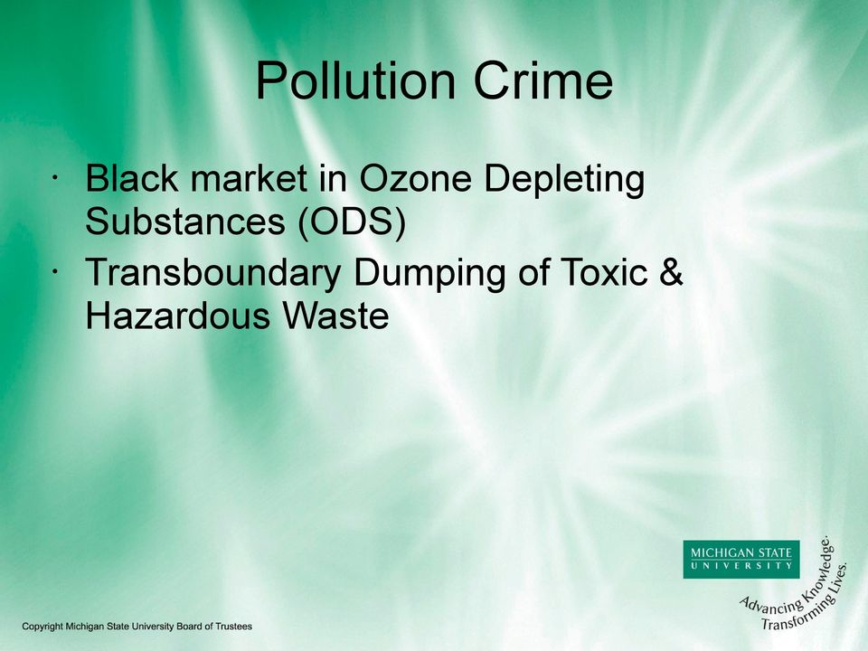 Substances (ODS)