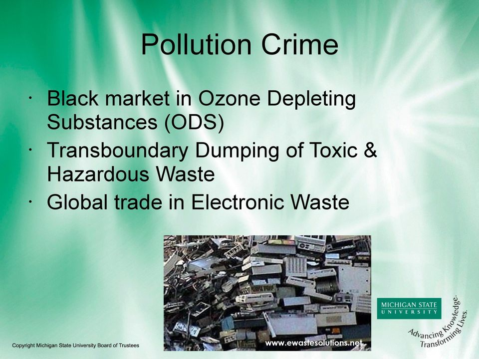 Dumping of Toxic & Hazardous Waste Global
